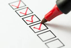 Ticking of items of a cancer checklist