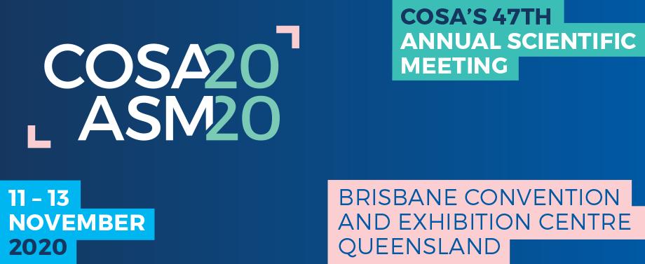 COSA ASM 11-13 Nov Brisbane